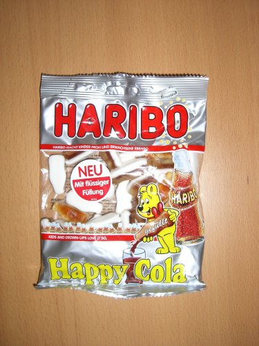 Haribo Happy Cola gefüllt