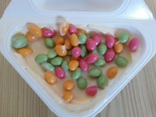 Müller Joghurt mit der Ecke Frohe Ostern 2